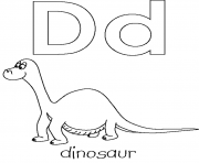 Print free letter d for dino printable alphabet s2139 coloring pages