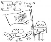 Print frog and flag free alphabet s1e45 coloring pages