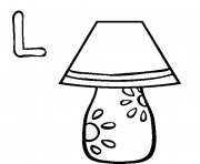lamp alphabet s free227b coloring pages
