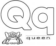 Printable alphabet s q for queen2228 coloring pages