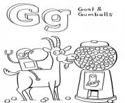gumballs and goat s alphabet g08e4 coloring pages