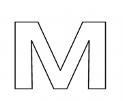Printable letter m free alphabet s3713 coloring pages