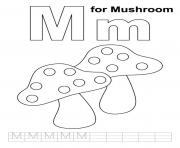 Print free alphabet s m for mushroomb688 coloring pages