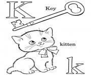 Printable k words alphabet s free541f coloring pages