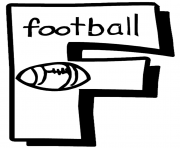 letter f football free alphabet sce02 coloring pages