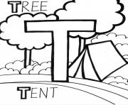 Print tree and tent alphabet 386d coloring pages
