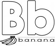 Printable banana in b word alphabet s1d7c coloring pages