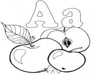 Print free apple alphabet s printable1374b coloring pages