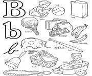 Print b for words alphabet s3b0c coloring pages