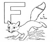 free alphabet s fox014e coloring pages