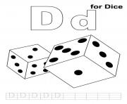 d for dice printable alphabet s10cab coloring pages
