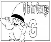 Printable g is for george cartoon s alphabet3288 coloring pages