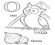 Printable onions and owl alphabet s3989 coloring pages