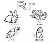 Print r words free alphabet s20f1 coloring pages