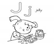 jelly alphabet d303 coloring pages