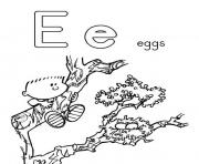 Printable alphabet s free e for eggs0c5b coloring pages