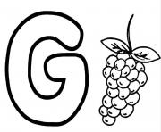 Print coloring pages alphabet g for grapesb4fb coloring pages