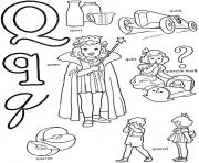 Print alphabet s words for qa62a coloring pages