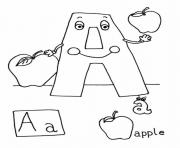 Print apple alphabet s printable75e3 coloring pages