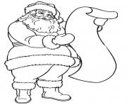 Print coloring pages of santa reading the long letterddfa coloring pages