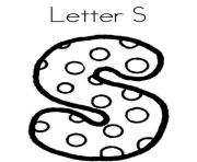 letter s dots alphabet a02c coloring pages