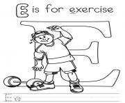 Print exercise alphabet s free0136 coloring pages