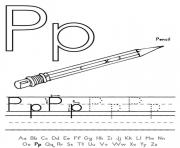 pencil free alphabet se293 coloring pages