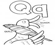Print quil and quack alphabet s5a71 coloring pages
