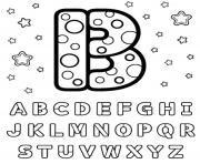 Printable b letter alphabet s1680 coloring pages