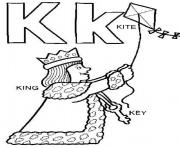 Print king and kite alphabet s freed97d coloring pages