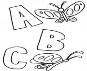 abc butterflies alphabet s printablee4df coloring pages