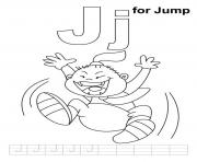 Print j is for jump alphabet d31b coloring pages