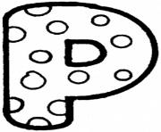 dots p free alphabet sce91 coloring pages