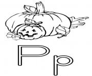 Print pumpkin free alphabet s13b1 coloring pages