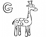 Print giraffe s alphabet ga864 coloring pages