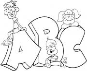 Print kids in alphabet s printable9651 coloring pages