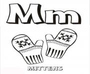 Print mittens free alphabet s1b49 coloring pages