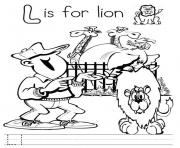 Printable l for lion alphabet s free7393 coloring pages