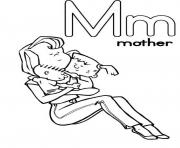 Print m is for mother free alphabet sd842 coloring pages