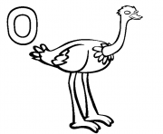 ostrich alphabet s830c coloring pages