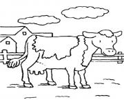 cow s animal farm0660 coloring pages
