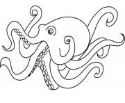 Print animal octopus 3d27 coloring pages