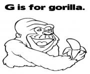 coloring pages alphabet g is for gorilla animal67ce