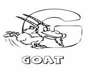 coloring pages alphabet animal farm goatb0f7 coloring pages