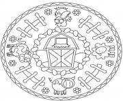 Print mandala s animal farmdd53 coloring pages