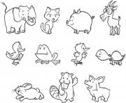 free s of animals baby9b4e coloring pages