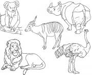 Print preschool s zoo animalsd60f coloring pages