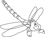 Printable free dragonfly animal  for kidsf461 coloring pages