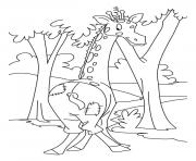 Print giraffe with pants animal sd422 coloring pages
