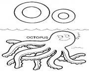 Print sea animals octopus alphabet s0608 coloring pages